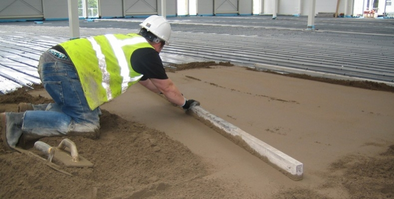 Self Builder Floor Screeding Sand And Cement Screed Jcw
